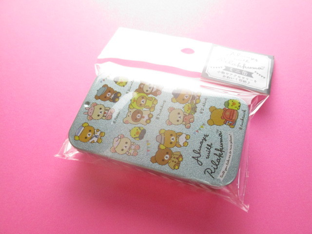 Photo1: Kawaii Cute Mini Tin Case San-x *Rilakkuma (MB20301-1)