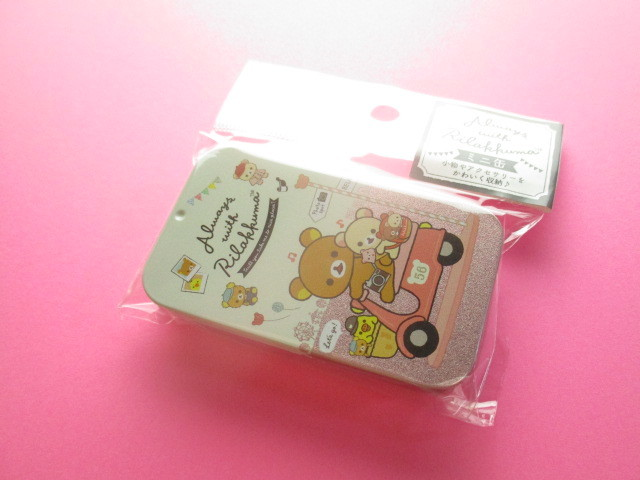 Photo1: Kawaii Cute Mini Tin Case San-x *Rilakkuma (MB20301-2)