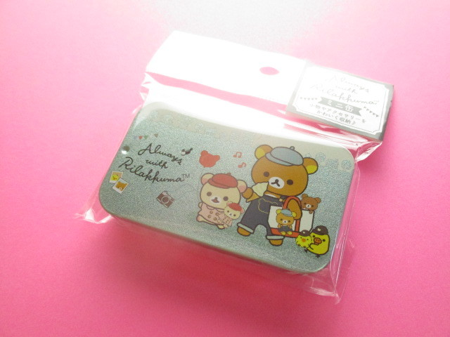 Photo1: Kawaii Cute Mini Tin Case San-x *Rilakkuma (MB20301-6)
