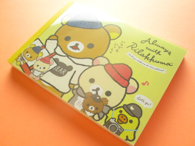 Photo1: Kawaii Cute Large Memo Pad Rilakkuma San-x *Always with Rilakkuma (MW54801)