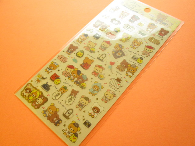 Photo1: Kawaii Cute Sticker Sheet Rilakkuma San-x *Always with Rilakkuma (SE39701)