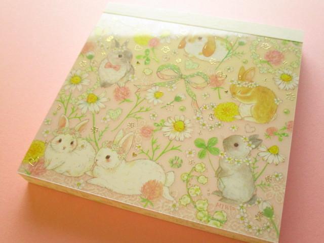 Photo1: Kawaii Cute Medium Memo Set たけい みき (Takei Miki) Clothes Pin *Natural Rabbit (MM-15389)