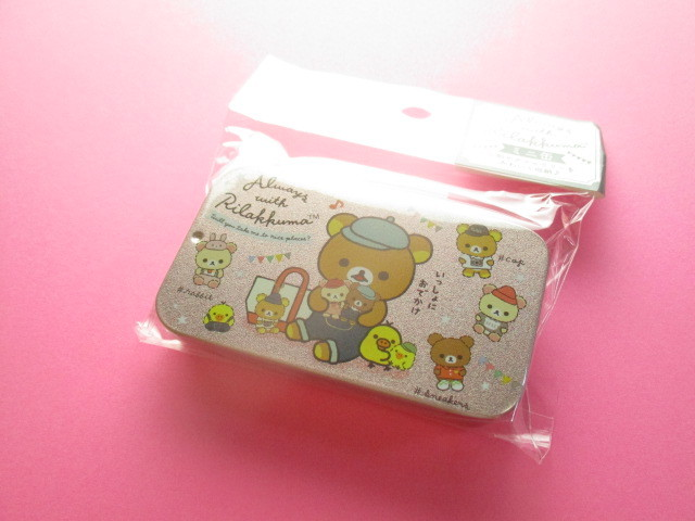 Photo1: Kawaii Cute Mini Tin Case San-x *Rilakkuma (MB20301-7)