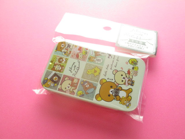 Photo1: Kawaii Cute Mini Tin Case San-x *Rilakkuma (MB20301-5)