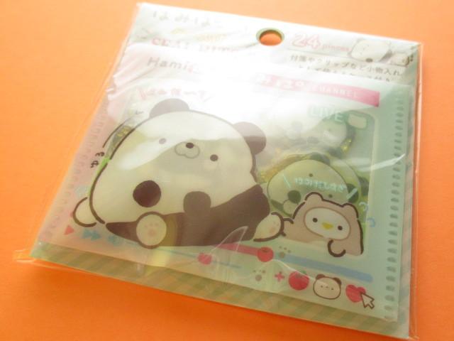 Photo1: Seal Bits Kawaii Cute Sticker Flakes Sack with Case San-x *Hamipa (SE40009)