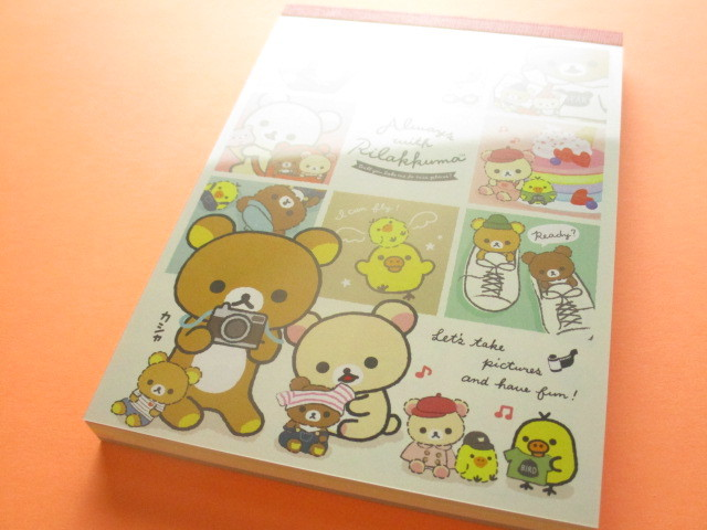 Photo1: Kawaii Cute Large Memo Pad Rilakkuma San-x *Always with Rilakkuma (MW54901)