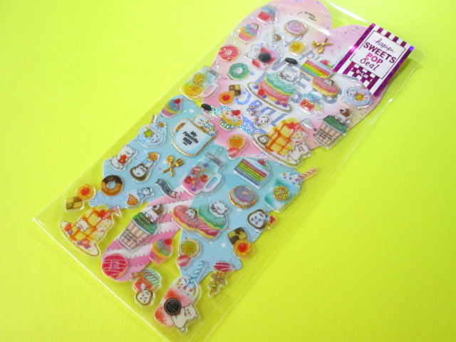 Photo1: Kawaii Cute Hapipi Ice Pop Stickers Sheet Q-LiA *My Favorite Cafe (41050)
