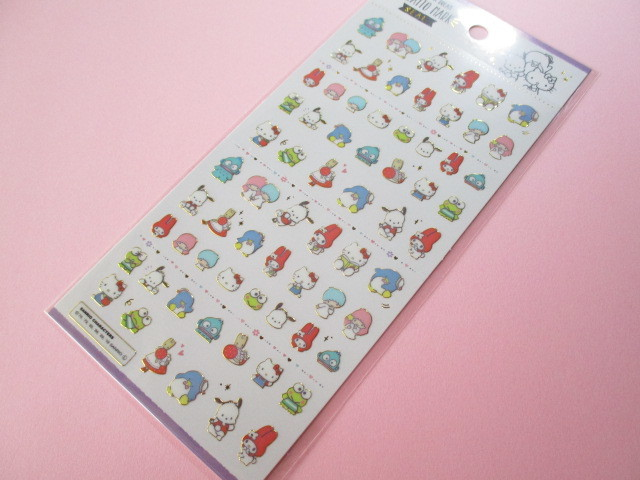 Photo1: Kawaii Cute Kiratto Mark Stickers Sheet Sanrio *Sanrio Characters (52213)