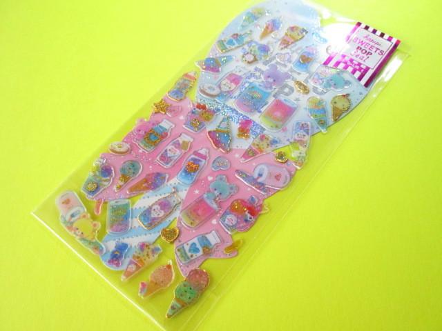 Photo1: Kawaii Cute Hapipi Ice Pop Stickers Sheet Q-LiA *Bottle Bears (41048)
