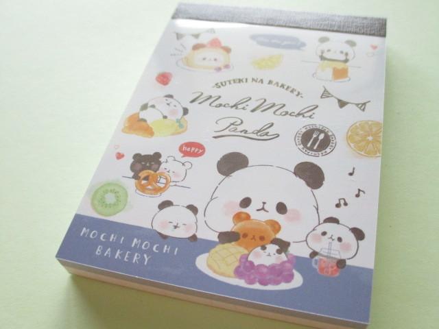 Photo1: Kawaii Cute Mini Memo Pad Mochi Mochi Panda Kamio Japan *Bakery (25647)