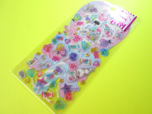 Photo1: Kawaii Cute Hapipi Ice Pop Stickers Sheet Q-LiA *Enchanted Time (41047)