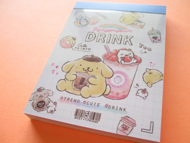 Photo1: Kawaii Cute Mini Memo Pad POMPOMPURIN Sanrio *Tapioca (17318)