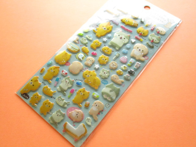 Photo1: Kawaii Cute Funi Funi Prism Sticker Sheet San-x *Corocorocoronya (SE43401)