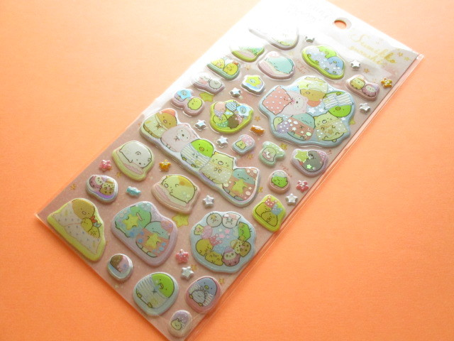 Photo1: Kawaii Cute Funi Funi Prism Sticker Sheet San-x *Sumikkogurashi (SE43001)