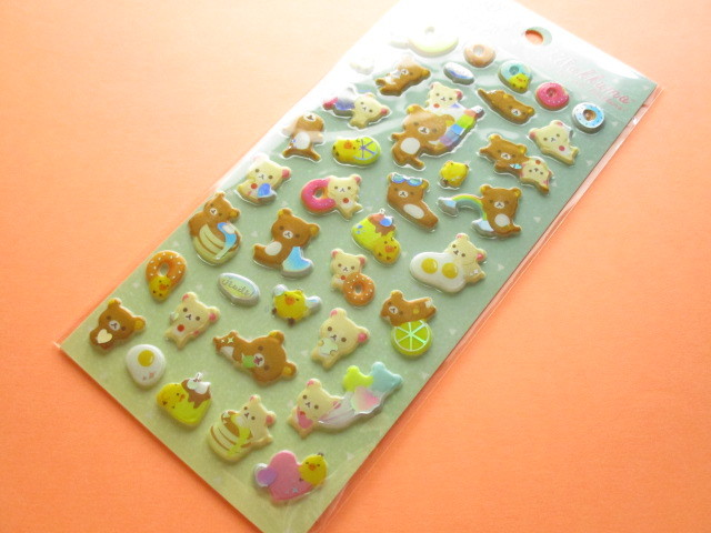 Photo1: Kawaii Cute Funi Funi Prism Sticker Sheet San-x * Rilakkuma (SE42801)