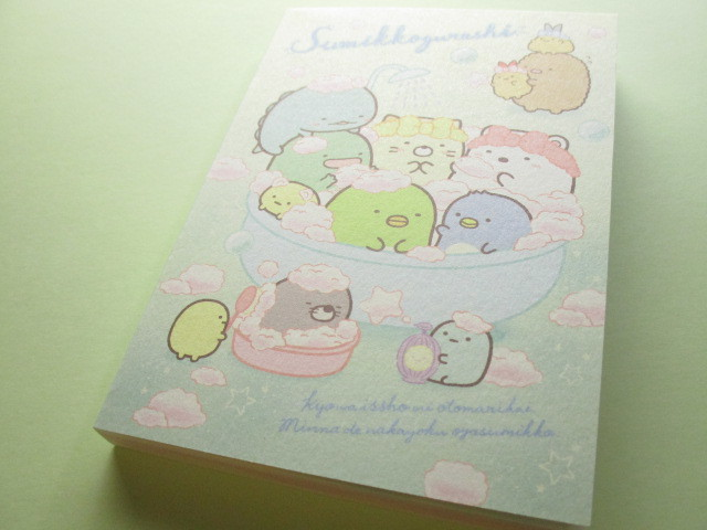 Photo1: Kawaii Cute Large Memo Pad Sumikkogurashi San-x *いっしょにおとまり会 (MW56501)