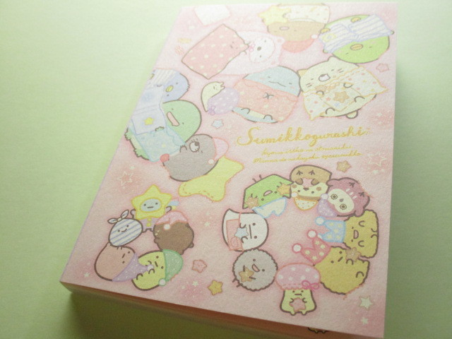 Photo1: Kawaii Cute Large Memo Pad Sumikkogurashi San-x *いっしょにおとまり会 (MW56401)