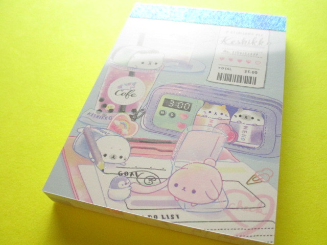 Photo1: Kawaii Cute Keshikko Mini Memo Pad Crux *カフェでべんきょう (56383)