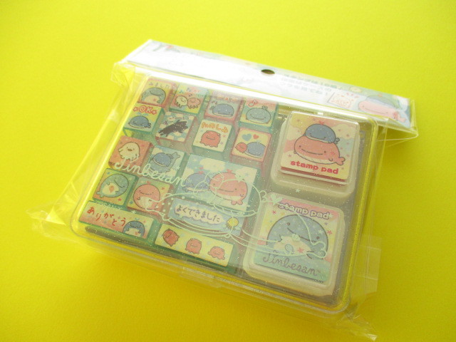 Photo1: Kawaii Cute Rubber Stamps Set San-x *Jinbesan (FT56001)