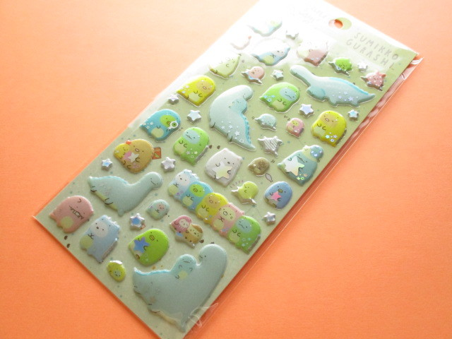 Photo1: Kawaii Cute Funi Funi Prism Sticker Sheet San-x *Sumikkogurashi (SE43101)