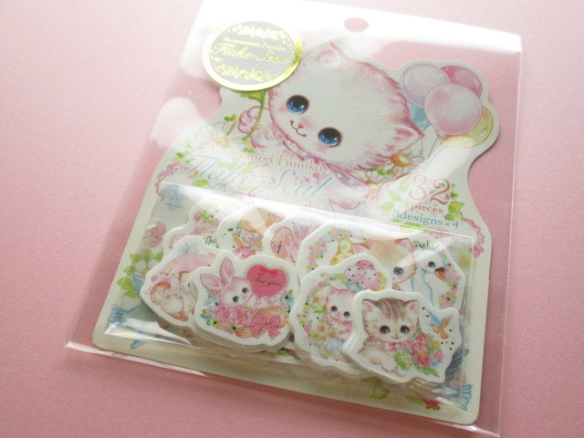 Photo1: Kawaii Cute Sticker Flakes Sack Amenomori Fumika Clothes Pin *Flower (US-13875)