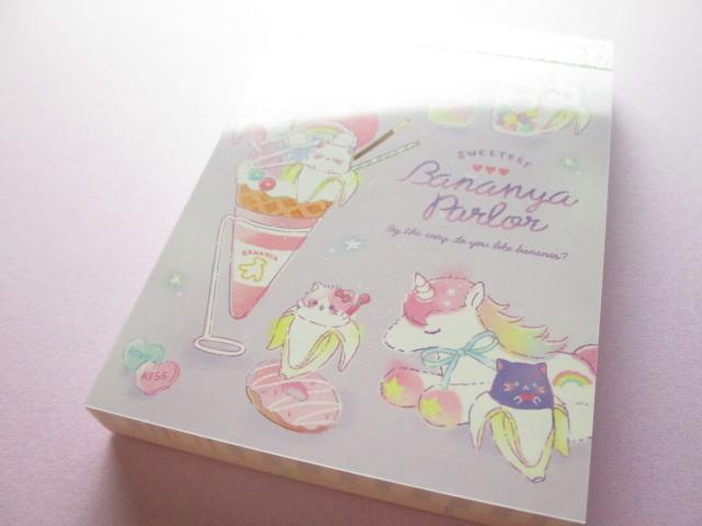 Photo1: Kawaii Cute Mini Memo Pad Q-LiA *Bananya Sweets (44348)