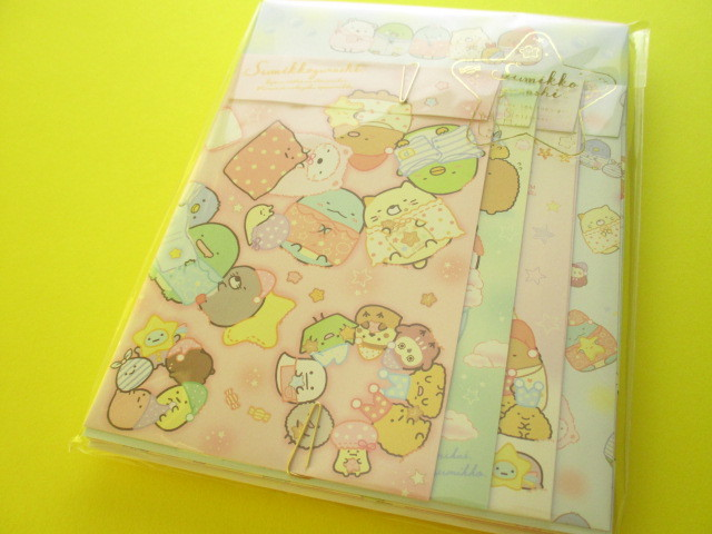 Photo1: Kawaii Cute Regular Letter Set Sumikkogurashi San-x *いっしょにおとまり会 (LH68501)