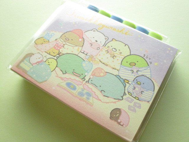 Photo1: Kawaii Cute Patapata Mini Memo Pad Set Sumikkogurashi San-x *いっしょにおとまり会 (MW56701)