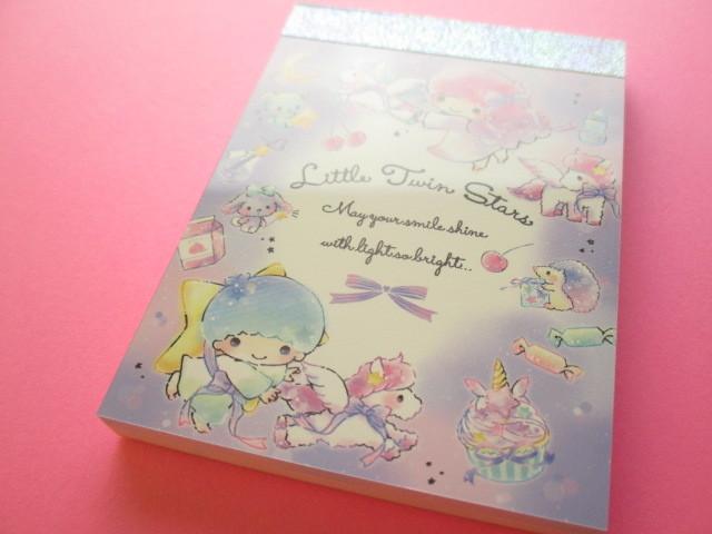 Photo1: Kawaii Cute Mini Memo Pad Little Twin Stars Sanrio (52230)