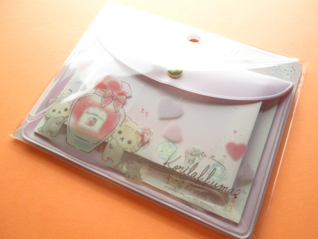 Photo1: Kawaii Cute Mini Letter set with Case Set San-x *Korilakkuma in the mirror (MW68901)
