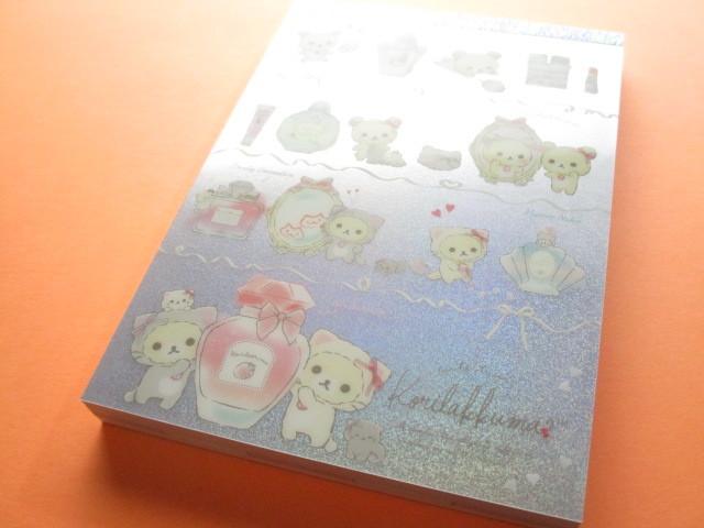 Photo1: Kawaii Cute Large Memo Pad Rilakkuma San-x *Korilakkuma in the mirror (MW57201)