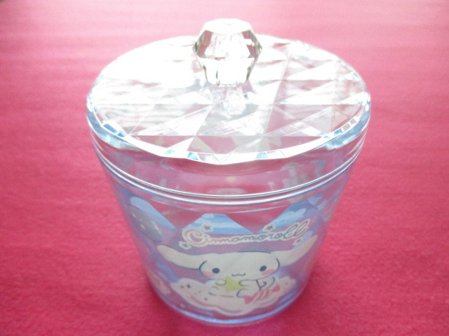 Photo1: Kawaii Cute Clear Canister Sanrio Original *Cinnamoroll (30125-6)