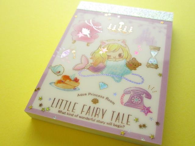 Photo1: Kawaii Cute Mini Memo Pad Little Fairy Tale Q-LiA *Little Mermaid (44393)