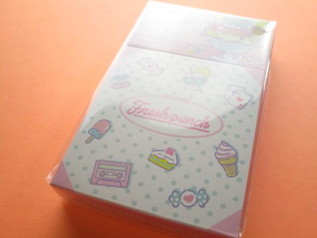 Photo1: Kawaii Cute Mini Memo Pad & Sticker Flakes Set Sanrio Original *Freshpunch (86183-9 Fr)