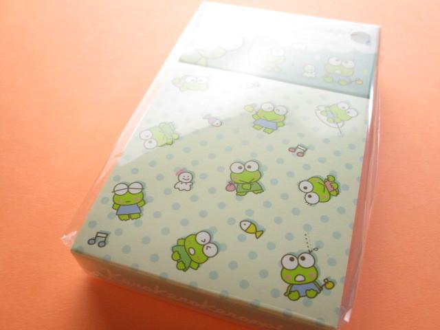 Photo1: Kawaii Cute Mini Memo Pad & Sticker Flakes Set Sanrio Original *Kerokerokeroppi (86183-9 Ke)