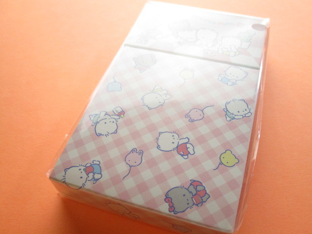 Photo1: Kawaii Cute Mini Memo Pad & Sticker Flakes Set Sanrio Original *Nya Ni Nyu Nye Nyon (86183-9 NN)