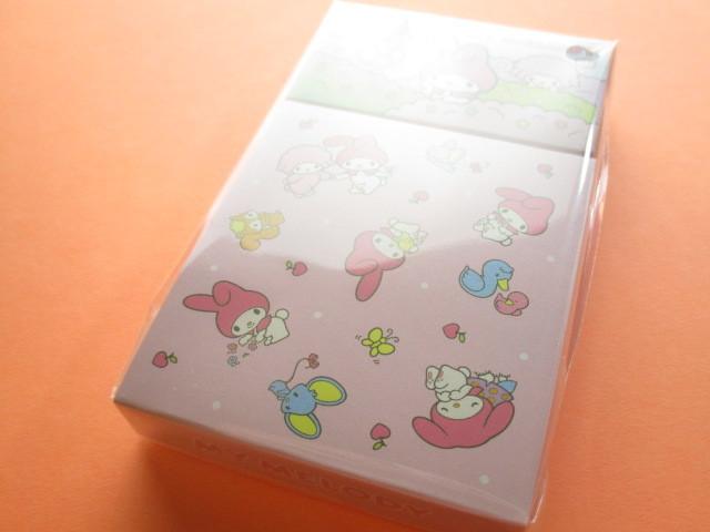 Photo1: Kawaii Cute Mini Memo Pad & Sticker Flakes Set Sanrio Original *My Melody (86183-9 MM)