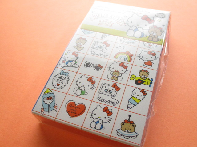 Photo1: Kawaii Cute Mini Memo Pad & Sticker Flakes Set Sanrio Original * Hello Kitty (86183-9 HK)