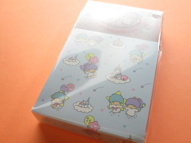 Photo1: Kawaii Cute Mini Memo Pad & Sticker Flakes Set Sanrio Original *Little Twin Stars (86183-9 LTS)