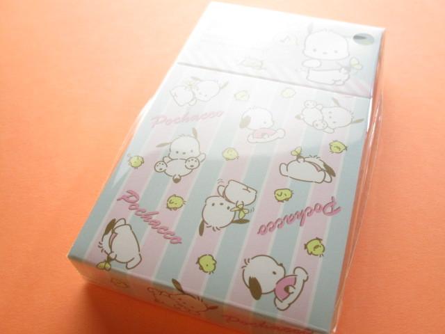 Photo1: Kawaii Cute Mini Memo Pad & Sticker Flakes Set Sanrio Original *Pochacco (86183-9 Po)