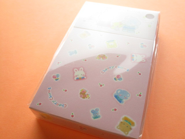 Photo1: Kawaii Cute Mini Memo Pad & Sticker Flakes Set Sanrio Original *Cheery Chums (86183-9 CC)