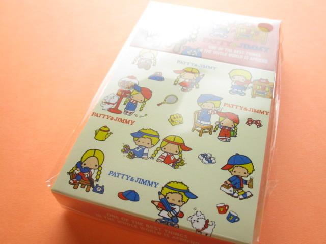 Photo1: Kawaii Cute Mini Memo Pad & Sticker Flakes Set Sanrio Original *Patty & Jimmy (86183-9 PJ)