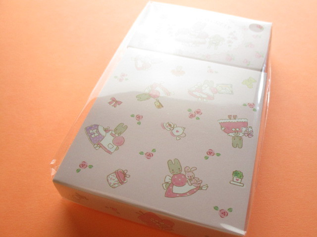 Photo1: Kawaii Cute Mini Memo Pad & Sticker Flakes Set Sanrio Original *Marron Cream (86183-9 MC)
