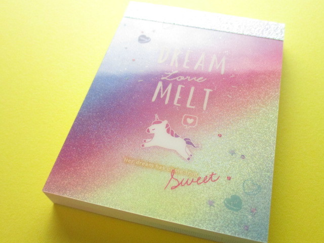 Photo1: Kawaii Cute Mini Memo Pad Unicorn Holic Q-LiA *Dream Melt (44495)