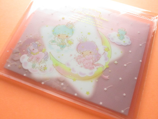 Photo1: Kawaii Cute Regular Letter Set with Clear Case Little Twin Stars Sanrio *Aurora Crown (00287-9)