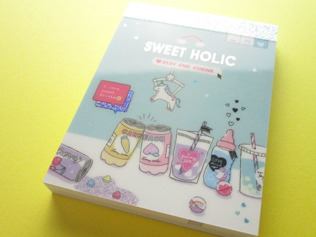 Photo1: Kawaii Cute Mini Memo Pad Unicorn Holic Q-LiA *Sweet Holic Party (44494)