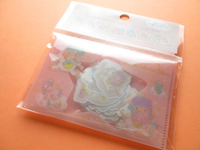 Photo1: Kawaii Cute Sticker Flakes Sack Little Twin Stars Sanrio Original *Aurora Crown (00289-5)