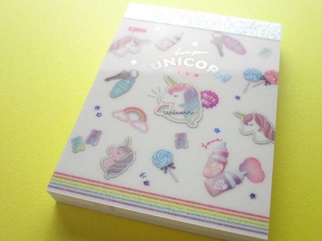 Photo1: Kawaii Cute Mini Memo Pad Unicorn Holic Q-LiA *Unicorn Dust Box (44493)
