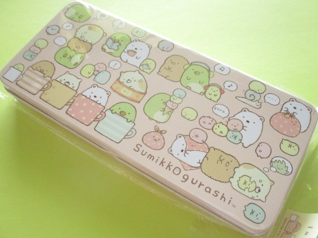 Photo1: Kawaii Cute Versatile Tin Case/Box San-x *Sumikkogurashi (SG-5516772CH)