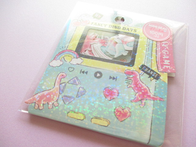 Photo1: Kawaii Cute Sticker Flakes Sack Crux *Fancy Dino Days (73006)